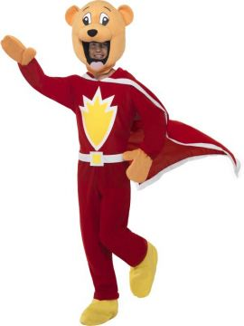 Super Ted For Sale - Superted Costume, Jumpsuit With Shoe Covers, Cape, Gloves & Head. | The Costume Corner Fancy Dress Super Store
