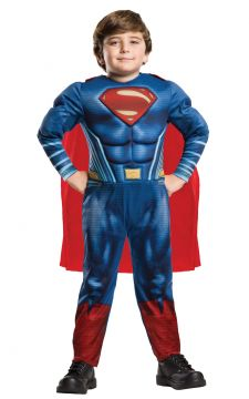 Superman Deluxe For Sale - In this muscular padded deluxe jumpsuit you'll feel ready for whatever your nemesis Batman has to throw at you as you wrestle for supremacy in 'Batman v Superman: D... | The Costume Corner Fancy Dress Super Store