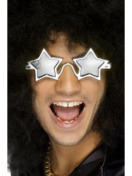 Superstar Shades For Sale - Superstar Shades, Silver, on Display Card | The Costume Corner Fancy Dress Super Store