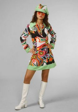 Swirl Dress For Sale - Swirl dress and Hat (Hire Costume)   The Costume Corner