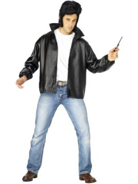 T-Birds Jacket For Sale - T-Birds Jacket, Black, with Embroidered Logo | The Costume Corner Fancy Dress Super Store