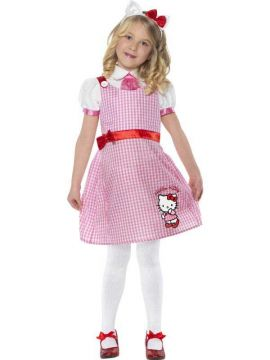 Tartan Schoolgirl - Hello Kitty For Sale - Hello Kitty Pink Tartan School Girl, Pink, Includes Dress and Headband | The Costume Corner Fancy Dress Super Store