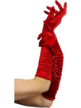 Temptress Gloves Red For Sale - Temptress Gloves, Red, Long 46cm/18 inches | The Costume Corner Fancy Dress Super Store