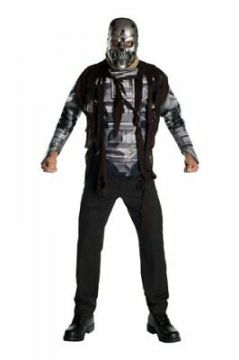 Terminator Salvation - T600 For Sale - Terminator Salvation - T600 Two piece helmet, print effect shirt Official Licensed Product | The Costume Corner Fancy Dress Super Store