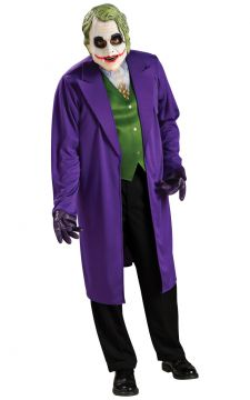 The Joker For Sale - Mens Joker costume includes jacket with attached shirt & mask | The Costume Corner Fancy Dress Super Store