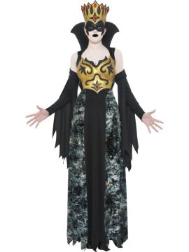 The Phantom Queen For Sale - The Phantom Queen Costume, with Dress, Sleeves, Latex Bodice, Crown with Mask | The Costume Corner Fancy Dress Super Store