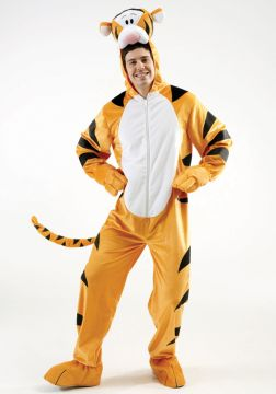 Tigger For Sale - Tigger jumpsuit with foam filled character headpiece.The wonderful thing about this Tigger is the top that's made out of foam. Your bottom better be made out of springs a... | The Costume Corner Fancy Dress Super Store