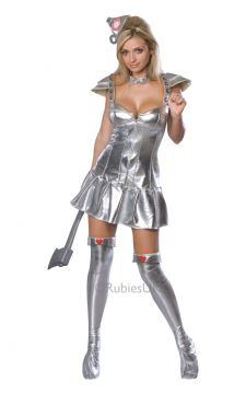 Tin Woman For Sale - Need to look hot, as hot as a hot tin roof? Then send steam billowing out of this outfit's funnel! Dress up as the Tin Man's more attractive half and set off on the Yellow Bric... | The Costume Corner Fancy Dress Super Store