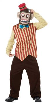Toy Monkey Googly Eye For Sale - Mask with eyes on springs, hat, shirt & trousers | The Costume Corner Fancy Dress Super Store