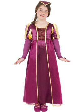 Tudor Girl For Sale - Tudor Girl Costume. Includes burgandy dress with matching headpiece. | The Costume Corner Fancy Dress Super Store