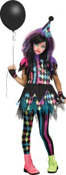 Twisted Circus For Sale - Dress, glovelets, footless tights & matching hat | The Costume Corner Fancy Dress Super Store