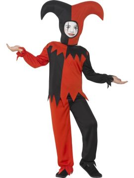 Twisted Jester Costume - Kids For Sale - Includes Top, Trousers & Hat | The Costume Corner Fancy Dress Super Store
