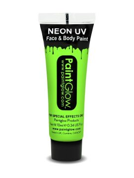 UV Face & Body Paint, Green For Sale - UV Face & Body Paint, Green, 10ml | The Costume Corner Fancy Dress Super Store
