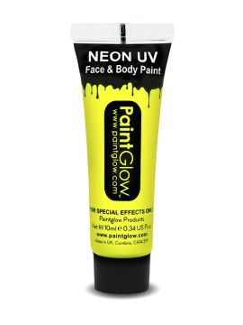 UV Face & Body Paint, Yellow For Sale - UV Face & Body Paint, Yellow, 10ml | The Costume Corner Fancy Dress Super Store