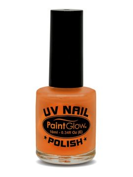 UV Nail Polish, Orange For Sale - UV Nail Polish, Orange, 12ml | The Costume Corner Fancy Dress Super Store