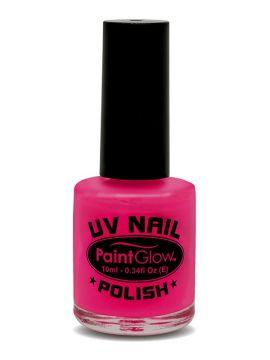 UV Nail Polish, Pink For Sale - UV Nail Polish, Pink, 12ml | The Costume Corner Fancy Dress Super Store