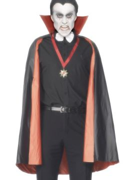 Vampire Cape For Sale - PVC Reversible Vampire Cape, Black and Red, with Collar, 114 cm / 45 inches | The Costume Corner Fancy Dress Super Store