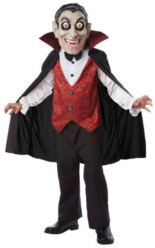 Vampire Googly Eyes For Sale - Count Dracula mask with googly eyes, bowtie & shirt front with attached cape | The Costume Corner Fancy Dress Super Store