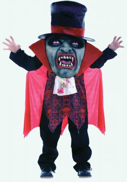 Vampire Mad Hatter For Sale - Tunic with sculpted face & oversize hat with see through panel | The Costume Corner Fancy Dress Super Store