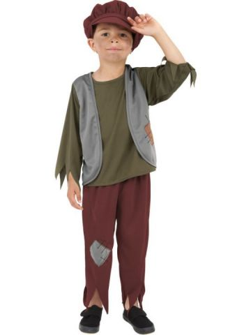 Victorian Poor Boy For Sale - Victorian Poor Boy Costume. Includes hat, top and trousers. | The Costume Corner Fancy Dress Super Store