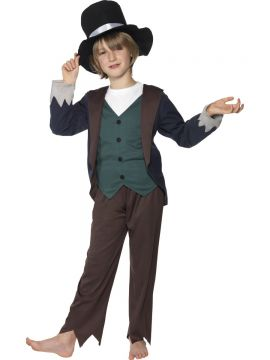 Victorian Poor Boy Costume For Sale - Victorian Poor Boy Costume, Top, Trousers and Hat, in Display Bag | The Costume Corner Fancy Dress Super Store