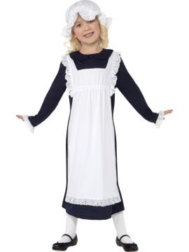 Victorian Poor Girl For Sale - Victorian Poor Girl Costume, with Dress with Apron and Hat | The Costume Corner Fancy Dress Super Store