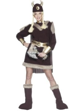 Viking Lady For Sale - Viking Lady Costume Dress Hat Bootcovers , Belt , Cape | The Costume Corner Fancy Dress Super Store