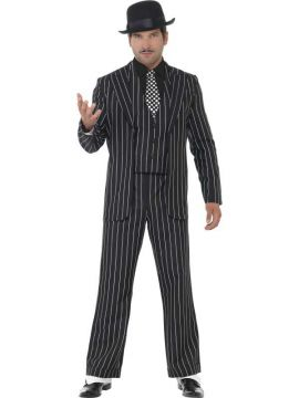 Vintage Gangster Boss For Sale - Vintage Gangster Boss Costume, Jacket, Tie, Waistcoat Mock Shirt & Trousers | The Costume Corner Fancy Dress Super Store
