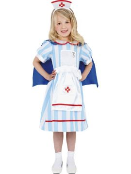 Vintage Nurse For Sale - Vintage Nurse costume includes headpiece, dress and cape. | The Costume Corner Fancy Dress Super Store