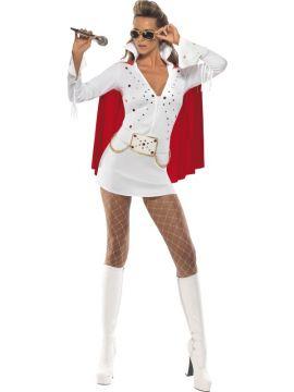 Viva Las Vegas For Sale - Elvis Viva Las Vegas Costume, White, With Dress and Cape | The Costume Corner Fancy Dress Super Store