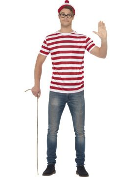 Where's Wally Kit For Sale - Includes Red & white T-shirt & hat | The Costume Corner Fancy Dress Super Store