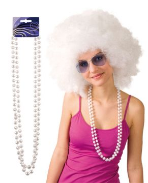White Pearl Necklace For Sale -  | The Costume Corner Fancy Dress Super Store