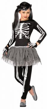 White Skeleton For Sale - Includes: Shirt; Leggings; Tutu & Gloves. | The Costume Corner Fancy Dress Super Store
