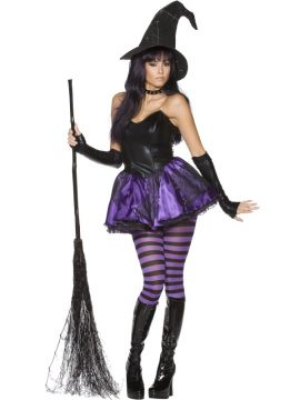 Wicked Witch For Sale - Rebel Toons Wicked Witch Costume, With Dress, Hat, Gloves and Tights | The Costume Corner Fancy Dress Super Store