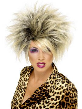 Wild Girl Wig For Sale - Wild Girl Wig, Blonde, Short, Highlighted | The Costume Corner Fancy Dress Super Store