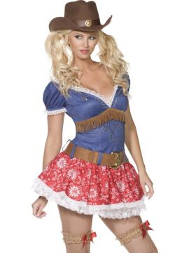 Wild West For Sale - Fever Boutique Wild West 3 Piece Costume, With Dress, Belt and Garters | The Costume Corner Fancy Dress Super Store