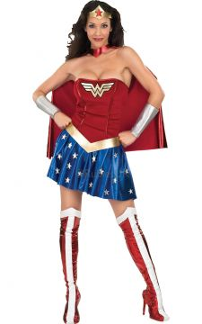 Wonder Woman For Sale - Dress Boot tops, belt, cape, headpiece and gauntlets. | The Costume Corner Fancy Dress Super Store