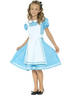 Wonderland Princess For Sale - Wonderland Princess dress - blue with attached apron and headband | The Costume Corner Fancy Dress Super Store