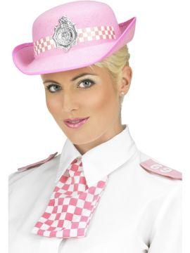 WPC Set For Sale - Policewoman's Set, Pink, With Scarf On Elastic and Epaulettes | The Costume Corner Fancy Dress Super Store