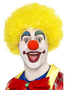 Clown Wig - Yellow For Sale - Crazy Clown Wig, Yellow | The Costume Corner Fancy Dress Super Store