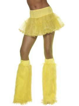Furry Boot Covers - Yellow For Sale - Yellow furry boot covers | The Costume Corner Fancy Dress Super Store