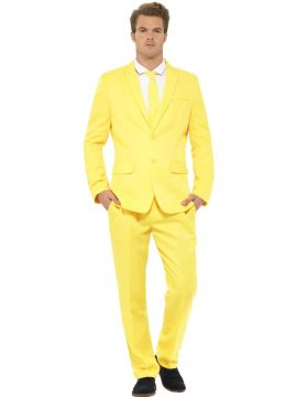 Yellow Suit For Sale - Yellow Suit, with Jacket, Trousers and Tie | The Costume Corner Fancy Dress Super Store