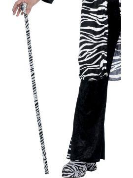 Zebra Pimp Cane For Sale - Zebra Pimp Cane, Black and White | The Costume Corner Fancy Dress Super Store