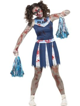 Zombie Cheerleader Lady For Sale - IncludesDress & Pom Poms | The Costume Corner Fancy Dress Super Store