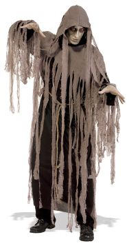 Zombie Nightmare For Sale - Hooded robe with gauze draping and belt cord. | The Costume Corner Fancy Dress Super Store