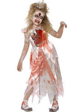 Zombie Sleeping Princess For Sale - Dress with chest print detail | The Costume Corner Fancy Dress Super Store