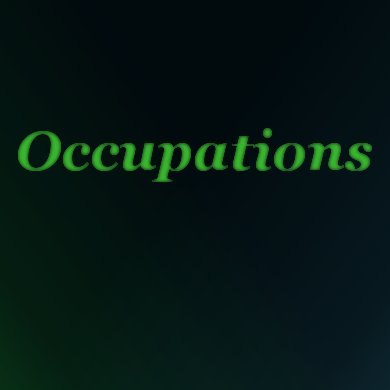 Occupations | The Costume Corner