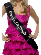 Divorced and Single Sash costumes
