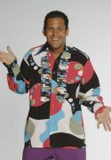 Big Bubble print frill shirt male hire costumes