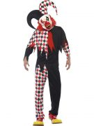 Adult Scary Clown Jester Costume costumes